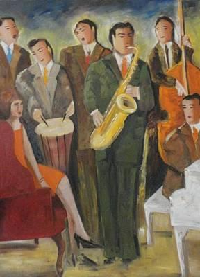 Listener Painting - Sold/rehearsing by Farid  Fakhriddin 80x60 cm