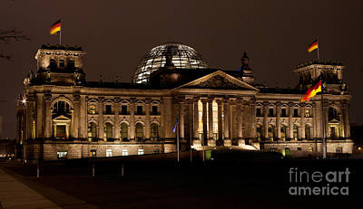 Berlin Photograph - Reichstag At Night by Mike Reid