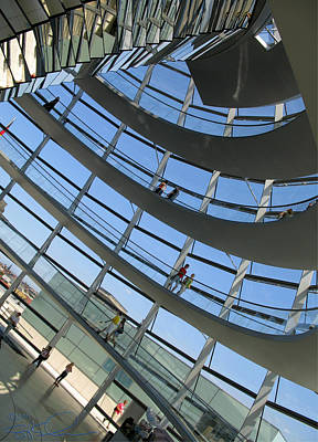 Reichstag Dome Art Print