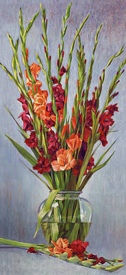 Painting - Reigning Gladiolus by Nancy Tilles