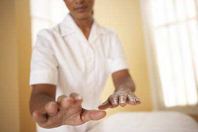 Healing Hands Photograph - Reiki Healing by Adam Gault Model Released.