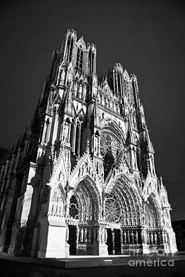 Photograph - Reims Cathedral by Olivier Steiner