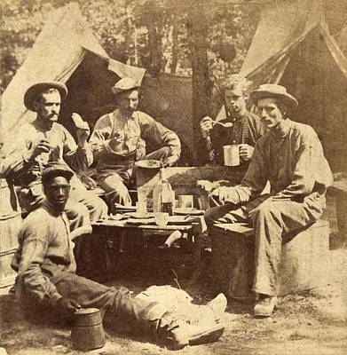Relaxed Scene Of Soldiers From The Army Art Print by Everett