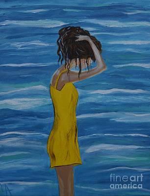 Painting - Relaxing Breeze by Leslie Allen