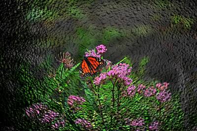 Impressionism Painting - Relaxing Butterfly  by Michael Mrozik
