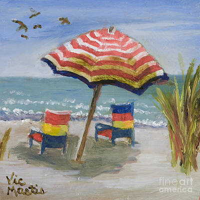 Painting - Relaxing Day With Gold Leaf By Vic Mastis by Vic  Mastis