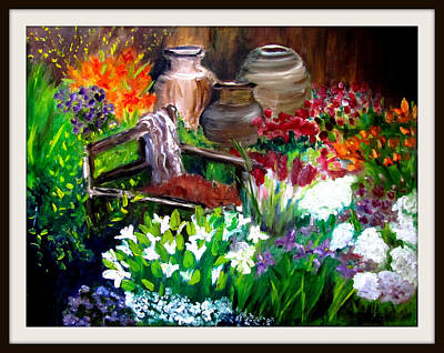 Painting - Relaxing In The Garden by Jenell Richards