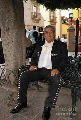 Photograph - Relaxing Mariachi San Miguel De Allende Mexico by John  Mitchell