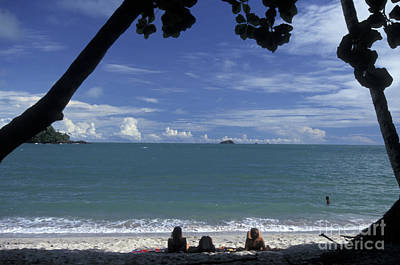 Photograph - Relaxing On The Beach  Manuel Antonio Park Costa Rica by John  Mitchell
