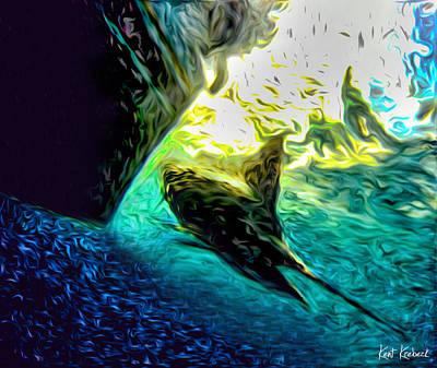 Sailfish Mixed Media - Release by Kent Krebeck