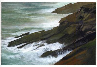 Robert Duvall Painting - Relentless Sea by Robert Duvall
