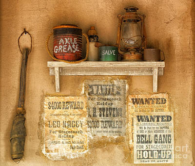Relics Of The Old West Art Print by Sandra Bronstein