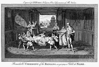Banian Photograph - Religion: Banian Ceremony by Granger