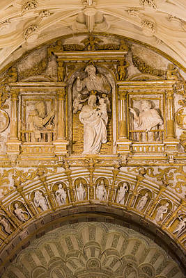 Relief Carving Photograph - Religious Carvings In Mezquita Cathedral by Artur Bogacki