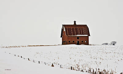 Print featuring the photograph Remaining Barn by Edward Peterson