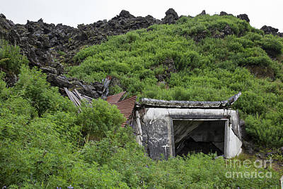 Photograph - Remains Of Home Buried By Lava by Greg Dimijian