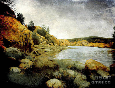 Watson Lake Photograph - Rembrandt Colors by Arne Hansen