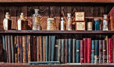 Apothecary Photograph - Remedies And Visiting List by Susan Candelario