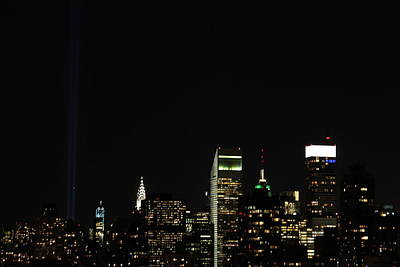 The Twin Towers Of The World Trade Center Photograph - Remember September 11th by Catie Canetti