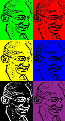 Digital Art - Remembering Gandhi by Saad Hasnain