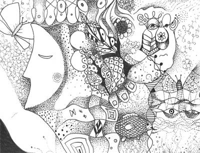 Nature Of Reality Drawing - Remembering by Helena Tiainen