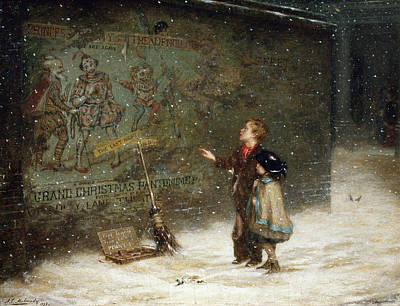 Winter Light Painting - Remembering Joys That Have Passed Away by Augustus Edward Mulready