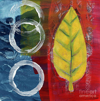 Blue Abstracts Mixed Media - Remembrance by Linda Woods