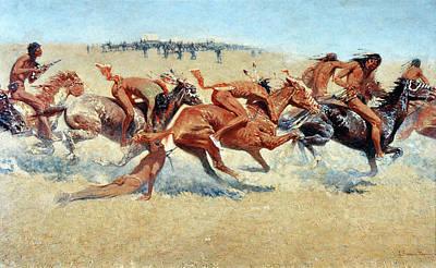 Photograph - Remington: Indian Warfare by Granger