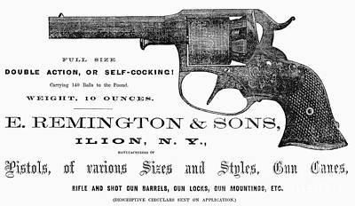 Photograph - Remington Revolver by Granger