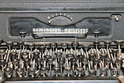 Photograph - Remington Typewriter Close Up by Pamela Walrath