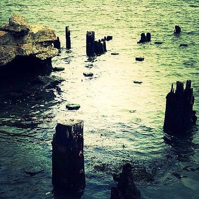 Water Wall Art - Photograph - Remnants Of A Dock by Natasha Marco