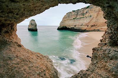 Algarve Wall Art - Photograph - Remote Beach In Lagoa, Portugal by © Allard Schager