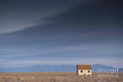 Remote House In Barren Lanscape Art Print