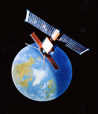 Er Photograph - Remote Sensing Satellite by Julian Baum