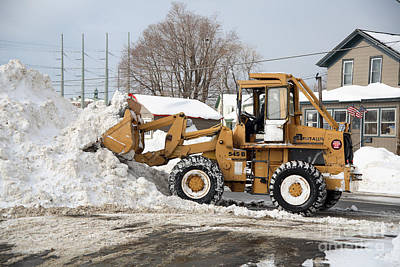 Snow Removal Photograph - Removing Snow by Ted Kinsman