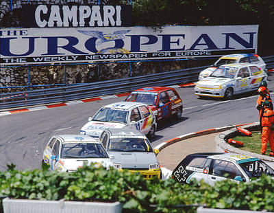 Renault Clio Photograph - Renault Clios At Monaco 1994 by John Bowers