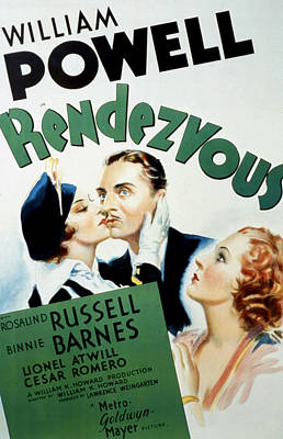 Threesome Photograph - Rendezvous, Rosalind Russell, William by Everett