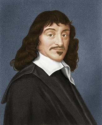 Analytic Photograph - Rene Descartes, French Philosopher by Maria Platt-evans