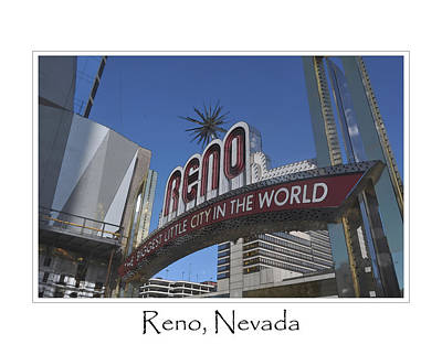 Digital Art - Reno Nevada by Brandon Bourdages