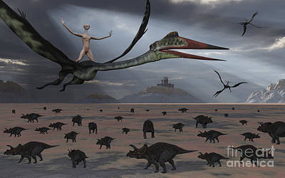 Extraterrestrial Existence Digital Art - Reptoids Ride On The Backs by Mark Stevenson