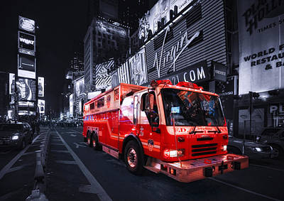 Firetruck Photograph - Rescue Me by Evelina Kremsdorf