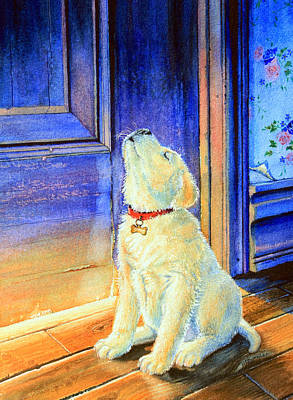 Children Book Illustrator Painting - Rescue Pup by Hanne Lore Koehler