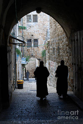 Digital Art - Residents Of Jerusalem Old City by Eva Kaufman