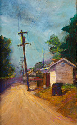 Dirt Roads Painting - Residents Only by Athena  Mantle