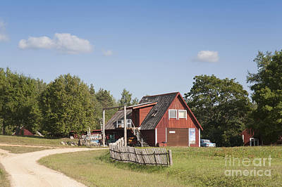 Resort Building In The Countryside Art Print by Jaak Nilson