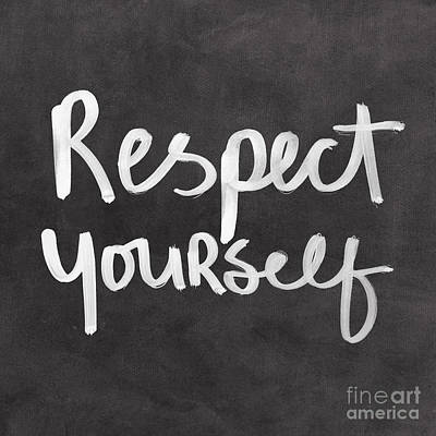 Mixed Media Rights Managed Images - Respect Yourself Royalty-Free Image by Linda Woods