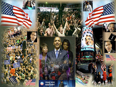 Obama Family Digital Art - Respectfully Yours..... Mr. President 2 by Terry Wallace