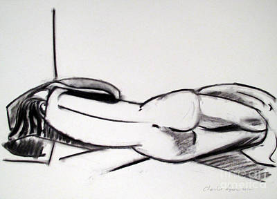 Abstraction Drawing - Rest by Charlie Spear