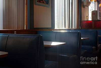 Photograph - Restaurant Booth With Streaming Sunlight by Susan Stevenson