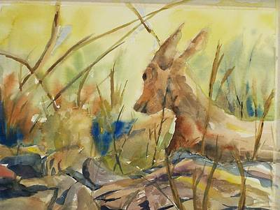 Resting Doe Art Print by Barbara McGeachen